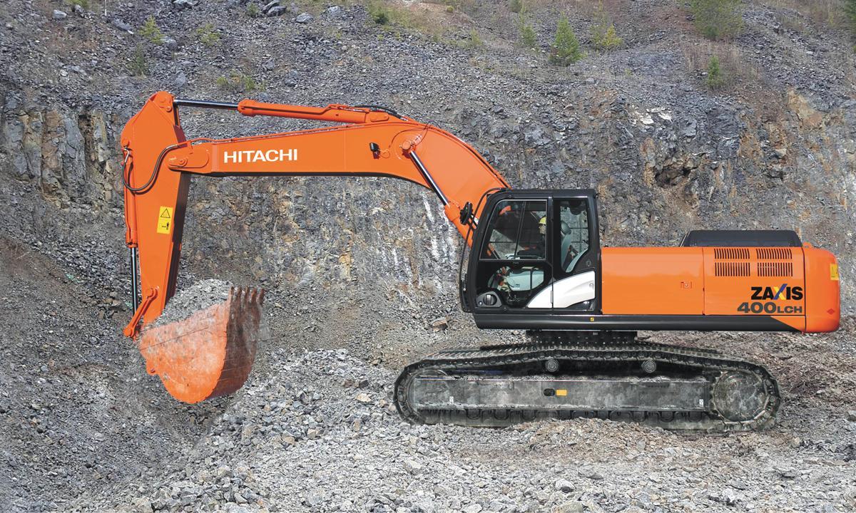 Российский завод Hitachi начинает производство экскаватора ZX400LCH-5G