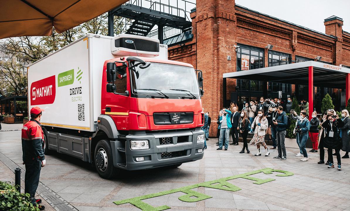 Презентация электрического грузовика Moskva