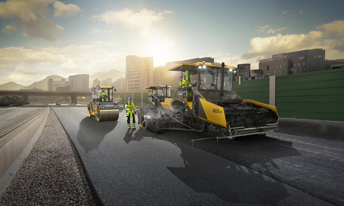 Укладчики Volvo серии D: «умная» техника для дорожного строительства