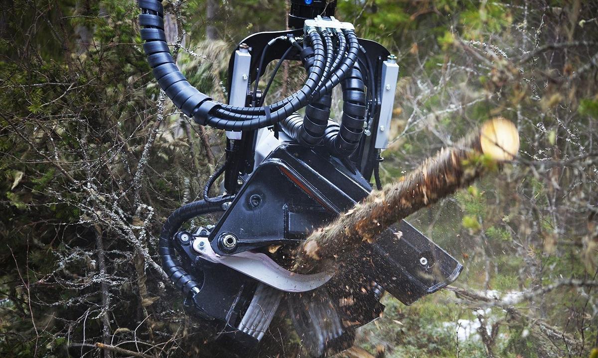 Logset TH75: преврати свой экскаватор в харвестер